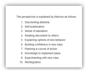 Mezirow explained