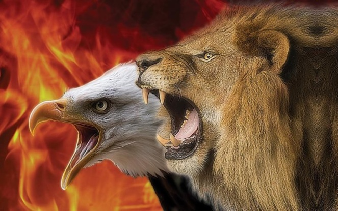Lion and Eagle represents The King and the Prophet  Lion-Eagle version reminds us of the Prophetic (eagle) component needed in many situations where we need to see the situation from the higher (Lord's) perspective.